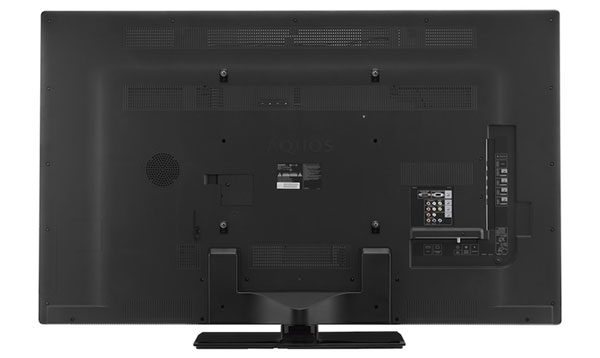 The back of the Sharp LE830U Series LED LCD TV