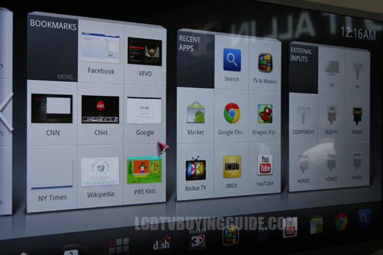 Google TV on the 47G2