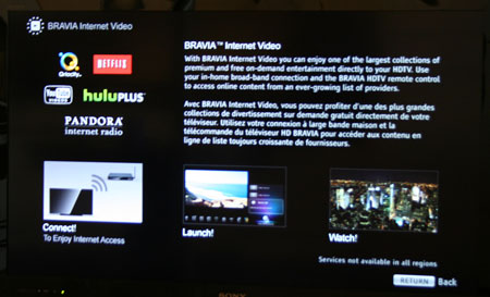sony bravia tv guide setup