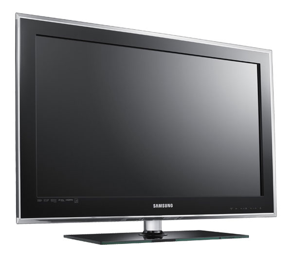 A front shot of the Samsung D550 series LCD TV