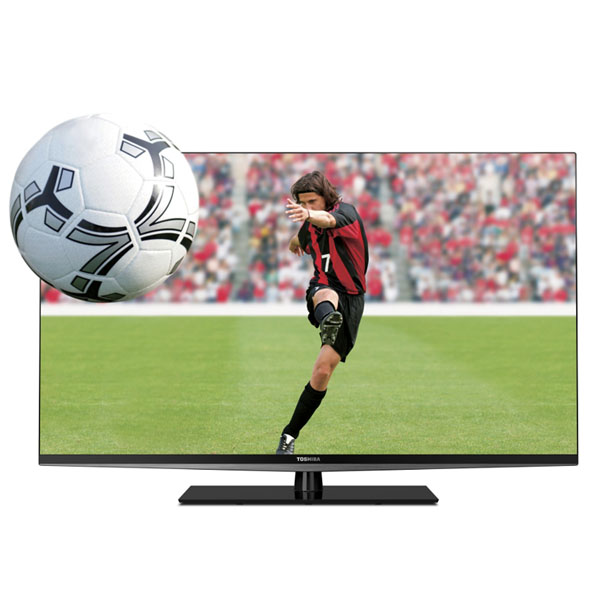 A front shot of the Toshiba 55L6200U series LED TV