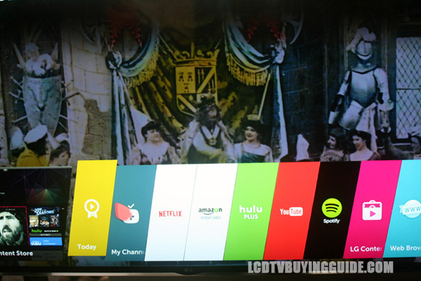 2016 LG e6p OLED TV Apps and Operating System