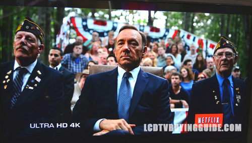 A shot from the House of Cards on Netflix in 4K